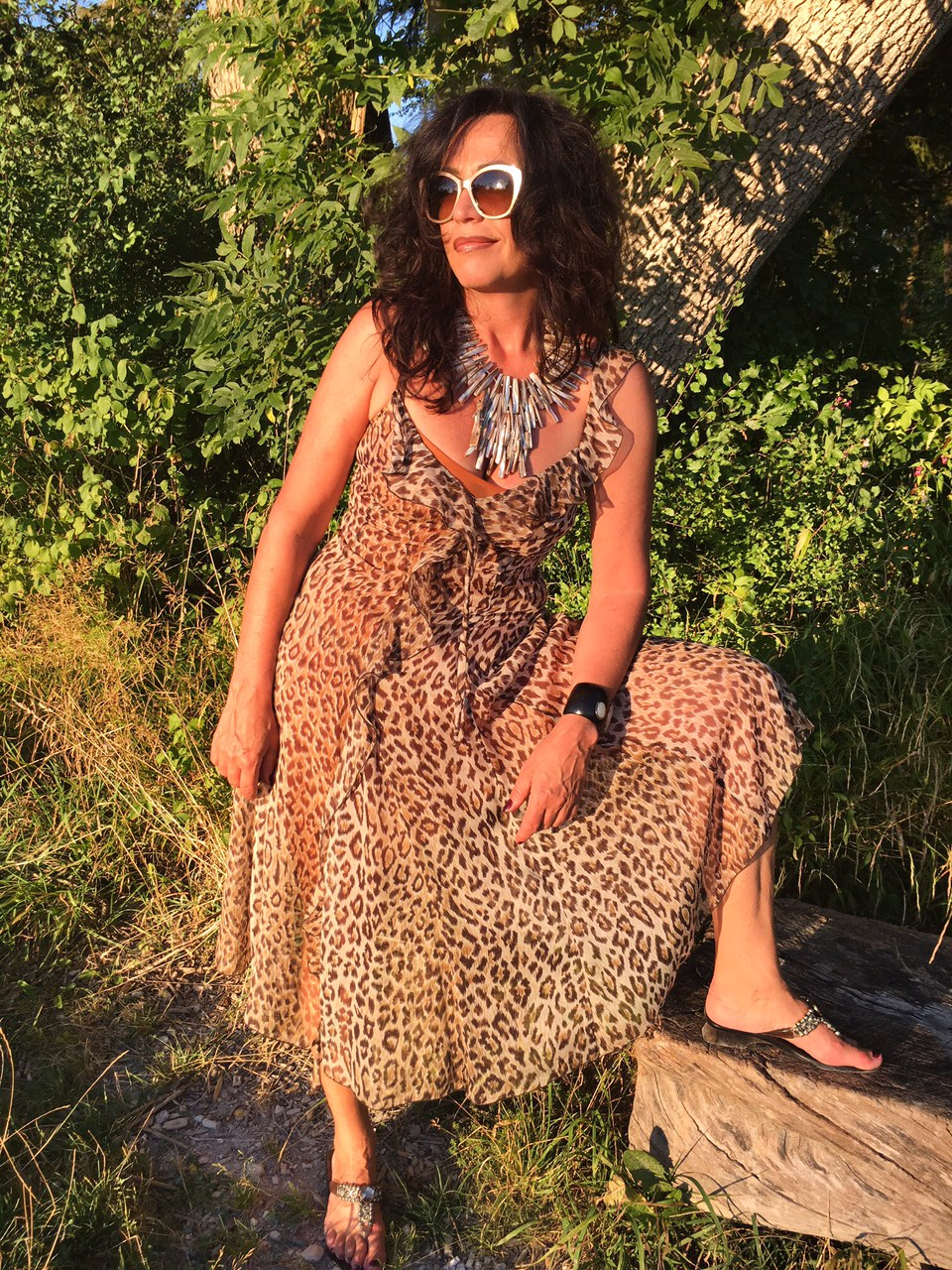 Leoprint, summerlook, summerstyle, fashion, ageless, dolce gabbana, silk, sunnies, sun, leo, chanel, nature, summerdress
