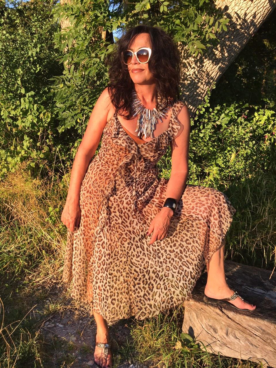 Leoprint, summerlook, summerstyle, fashion, ageless, dolce gabbana, silk, sunnies, sun, leo, chanel, nature, summerdress