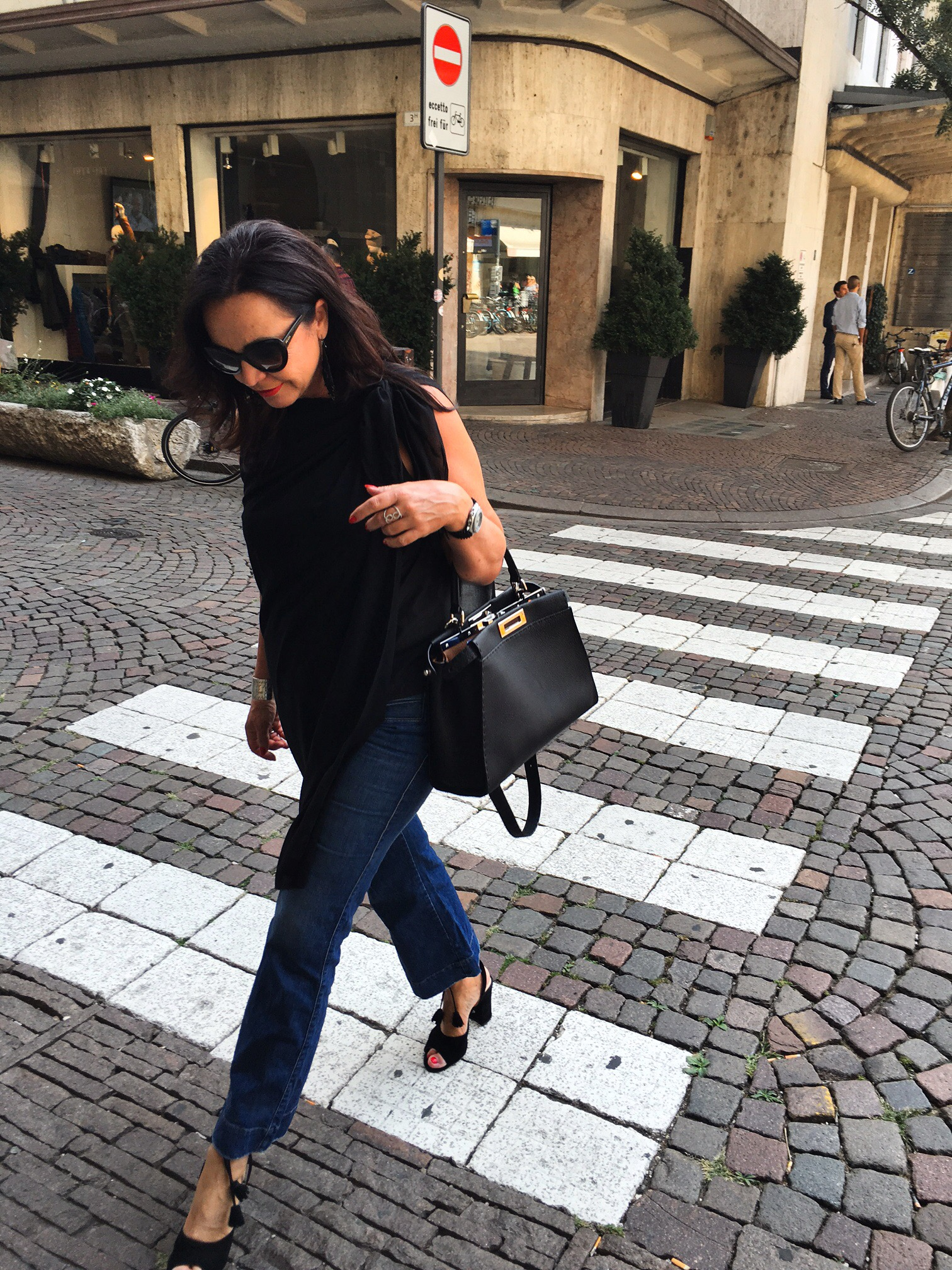 Fendi, Fendibag, Fashion, Fashionblog, Black Top with Jeans, Translucent, Nine West, MM8, Prada Eyewear