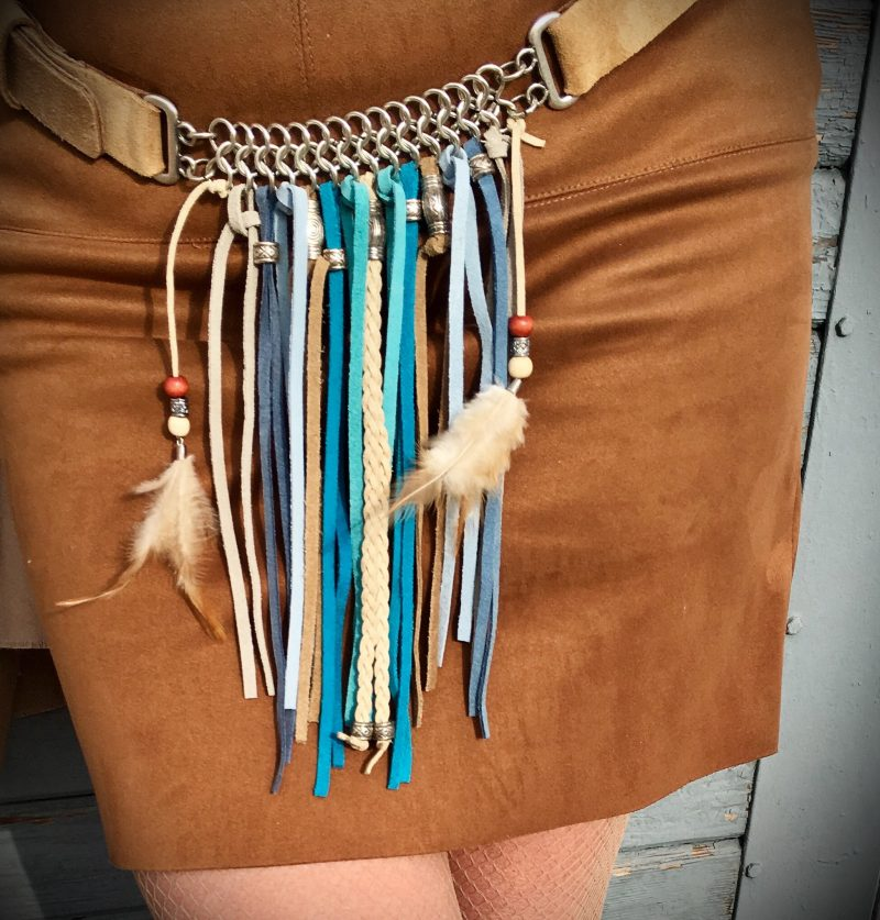 Belt, Codello, Leather, Feathers, Style, FAshion