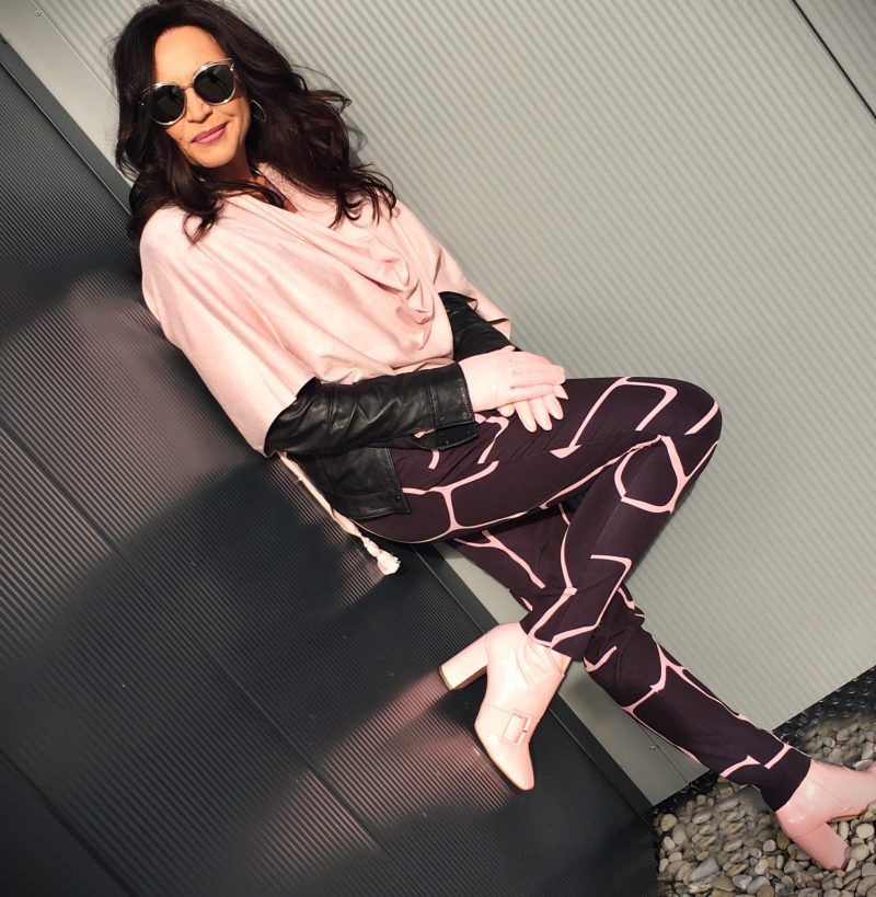 Pink poncho, Boots Asos, Pants Damir Doma, Shades Dior, Eyewear Dior, Jacket Kenneth Cole, Fashion, Style ageless
