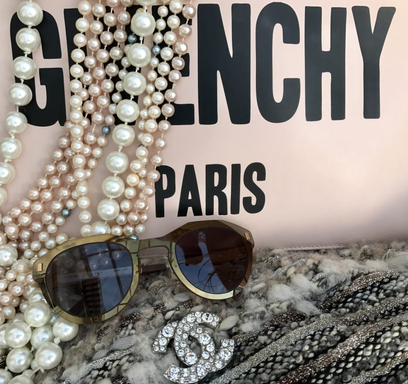 Chanel, pearls, Givenchy, Pride eyewear, Paris