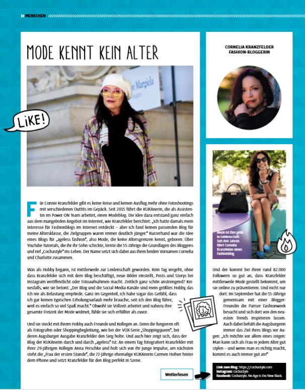 Press release, Pressemeldung, Fashionblog Augsburg, Modebloggerin, over50blogger, ageless fashion, style at any age, Zeitungsartikel, Zeitung, Presseartikel, Pressebericht, Firmenzeitung, Firmenmagazin