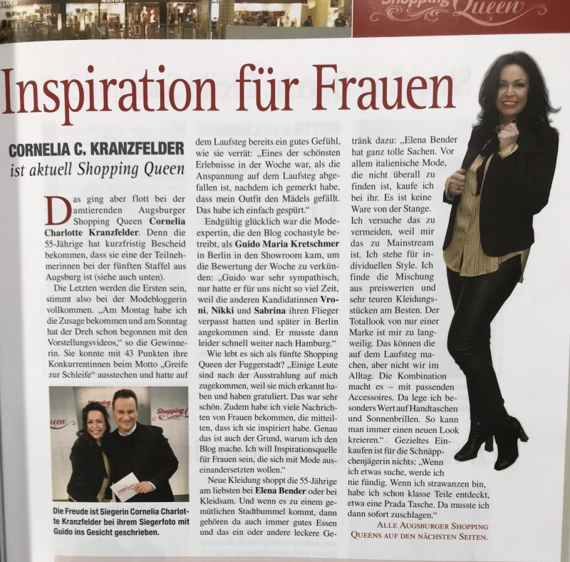 Press, Presse, Journal, Augsburg Journal, Zeitung, Zeitungsartikel, aggeless style, Bekleidung, Damenmode, Fashionblog Augsburg, Fashionblogger, eyewearblogger, style for ladies, streetstyle, streetfashion, streetwear, Augsburg Journal