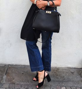 Black top, fendi, see by chloe, streetstyle, jeans