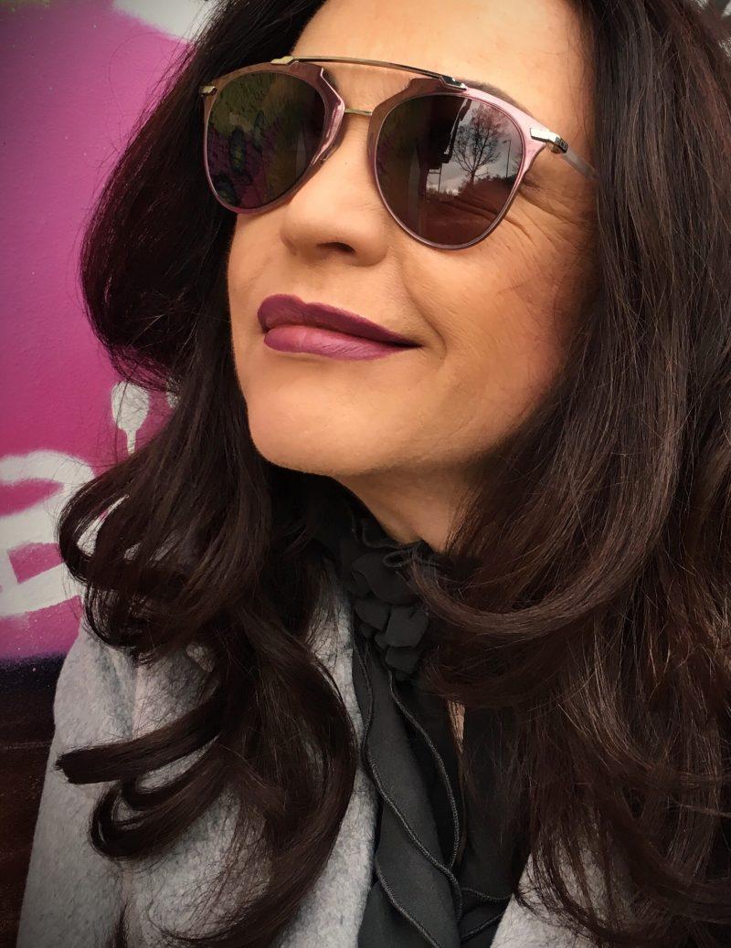 Dior glasses, Dior eyewear, sunnies, grey coat, mango