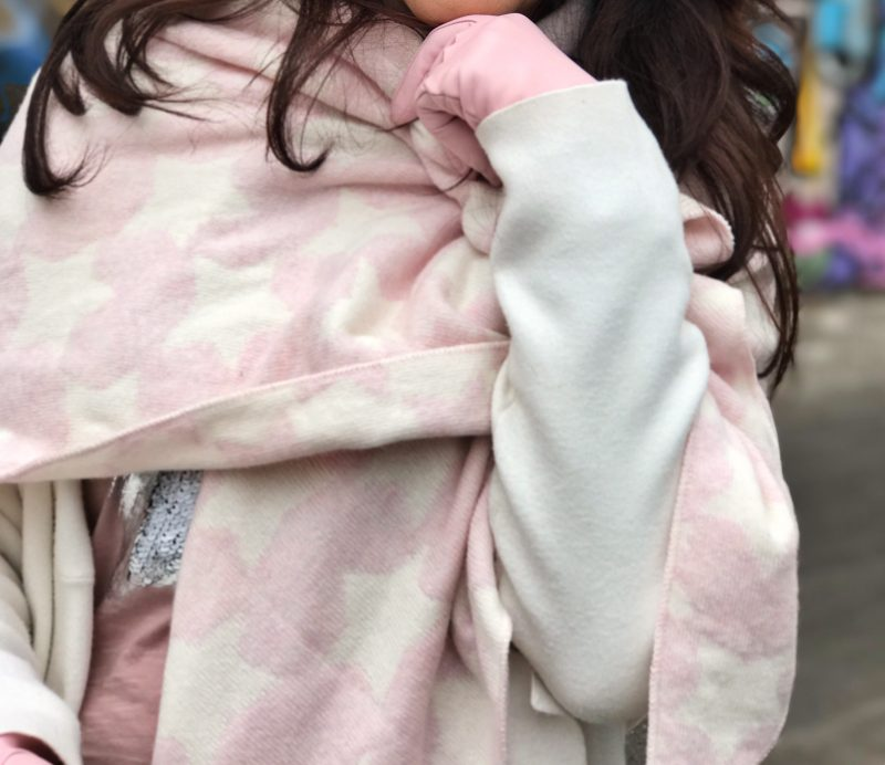 Zara, pink, scarf, fashion, modeblog