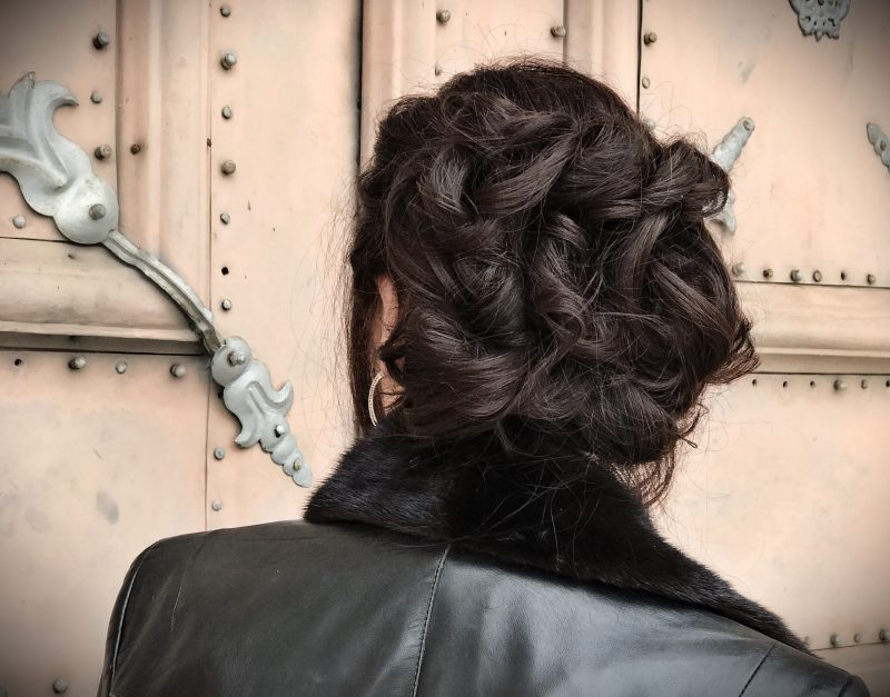 Hairstyle, leder Walter, colar, leather,
