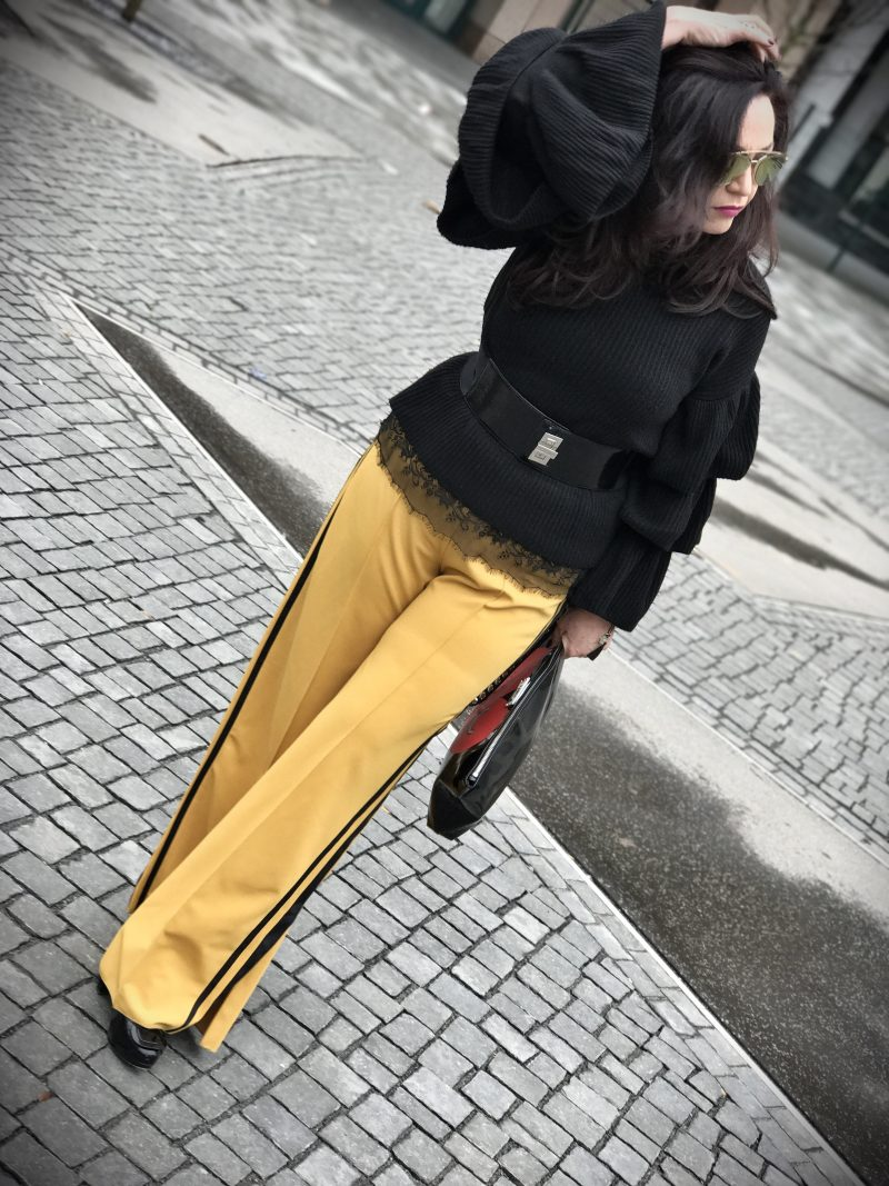 Zara palazzo pants, Sonja Rykiel, Michael Kors, Style, ageless, Mustard
