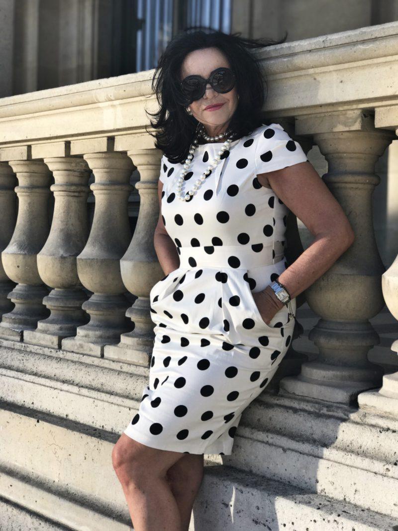 Dolce & Gabbana, polkadots, Paris,style for Ladies, ageless, Cartier bag, eyewear, eyewearfashion, designers, fashionista, Fashionblog, Modeblog, Bekleidung, instyle