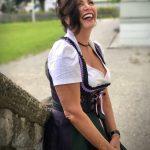 Dirndl, Tracht, Bayern, Oktoberfest, Trachtenstadl, Wiesn, Muenchen, Stockerpoint, Astrid Soell, Ruffles, bow, traditional drss, bavarian dress, Nacht der Tracht, Ash, Alpenflüstern, Astrid Söll, Angermaier