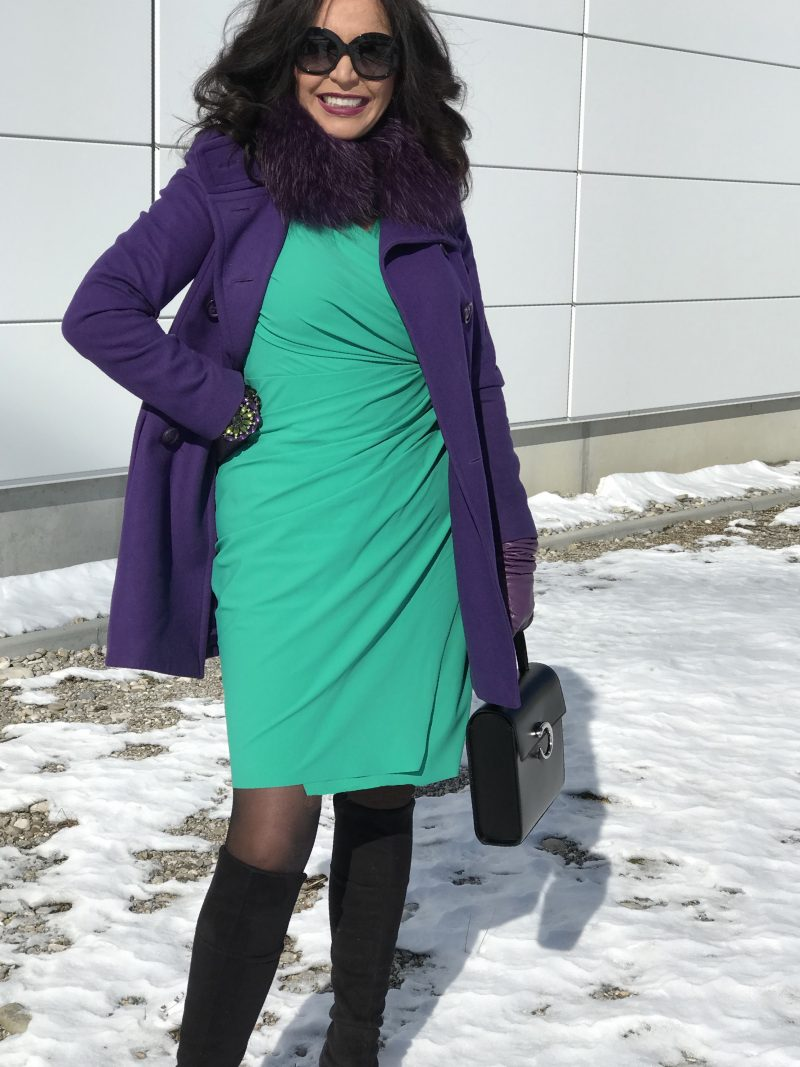 Banana Republic Bracelet, Sinnequanone Blazer, Manuela Fumagalli dress, Cartier bag, Caparrini shoes, Giorgio Armani eyewear, style for ladies, ageles fashion, streetchic, winteroutfit, colorsplash, Fashionblog Augsburg, Bekleidung, Damenmode, Streetfashion