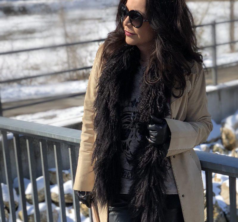 Grace sweater, Mango coat, Giorgio Armani shades, Lodenfrey scarf, Givenchy bag, Nine West shoes, Moschino pants, ageless style, Fashionblog Augsburg