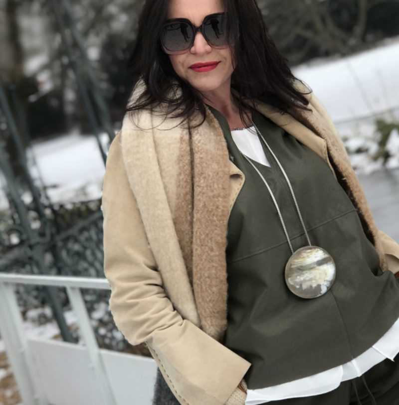 Mango Coat and pants, Maje top, Zara scarf, Dior shades, Stuart Weizman boots, ageless fashion, style for ladies, bestage, eyewearfashion, eyewearblogger, Bekleidung, Damenmode, Fashionblog Augsburg, Winteroutfit, streetfashion, streetchic, styleinspiration, over50