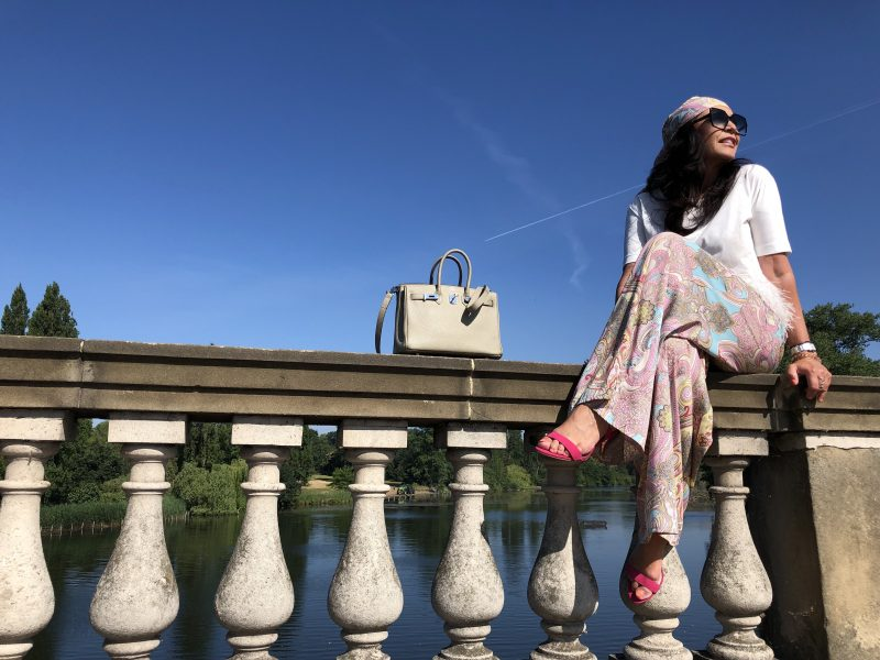 Souvenir top, Lanidor palazzo pants, Dune Shoes London, Saint Laurent Shades, Hermés bag, Fashionlover, Fashionblog Augsburg, Hyde Park, Feathers, Fashionbirds, bestage, streetstyle, summerlook, mystyle, munichblogger