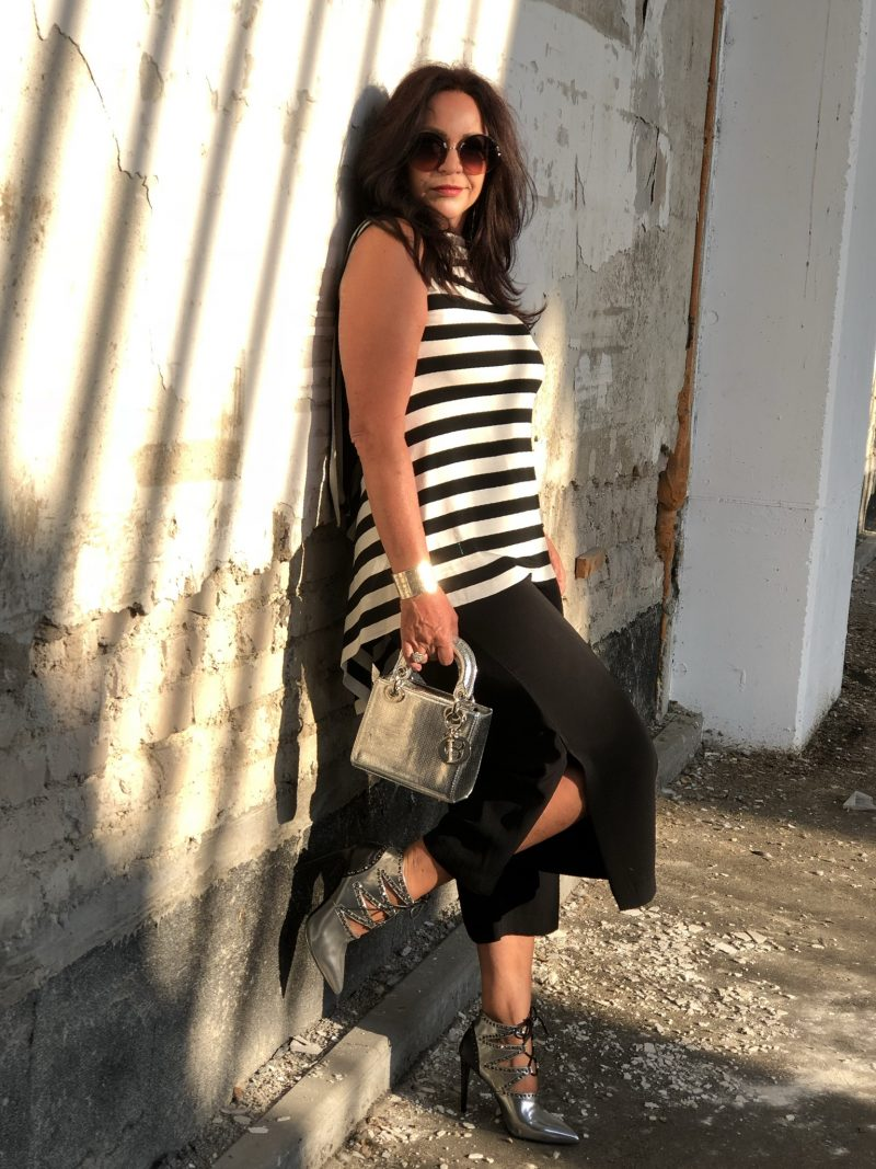 Stripes with stripes, Viccolo, Dior bag, Sergio Rossi shoes, Zara pants, Marc jacobs shades, streetchic, streetstyle, summerlook, munichblogger, Fashionblog Augsburg, ageless fashion, styleatanyage, silver heels, bestage