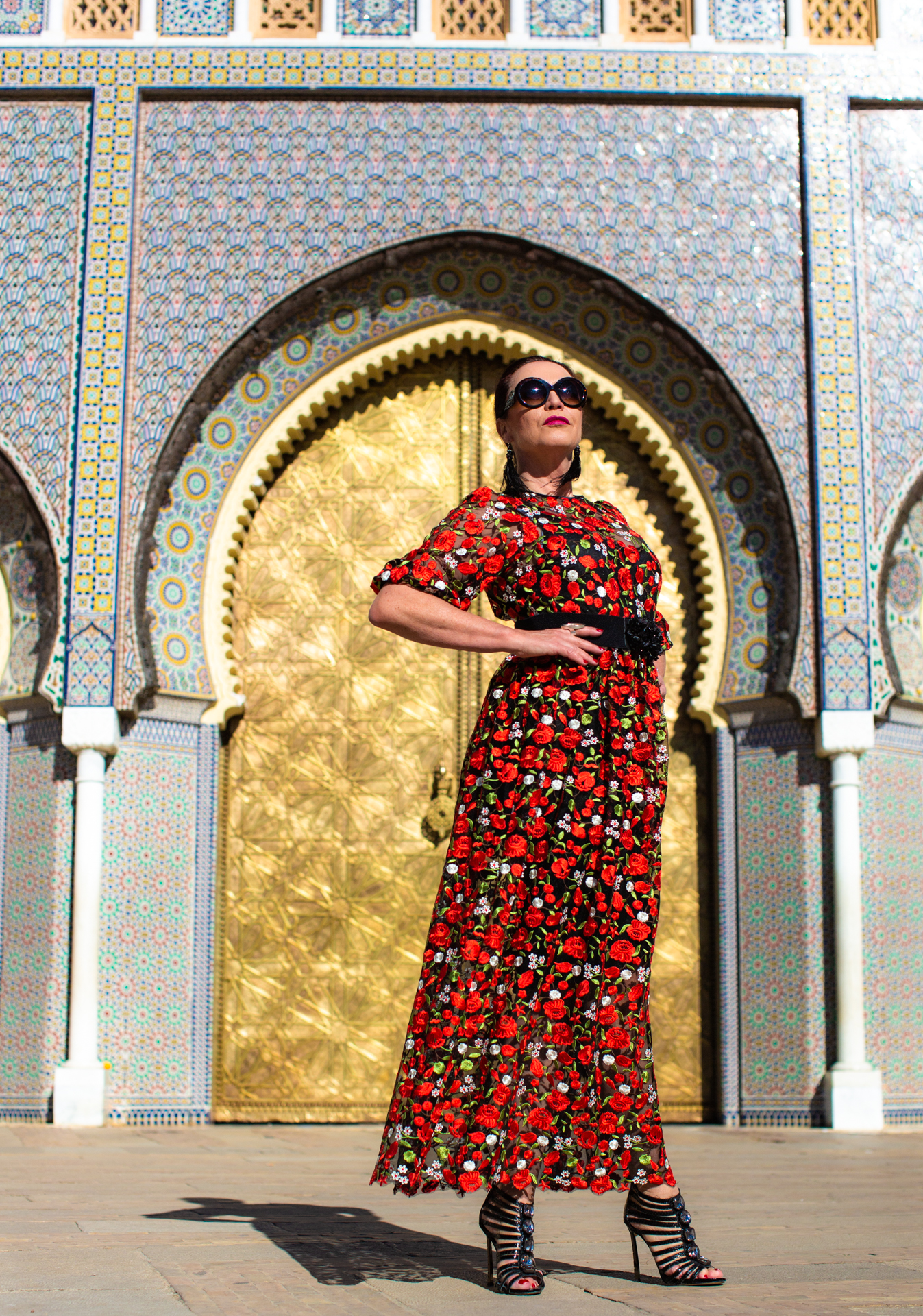 Rapsodia di Nero dress in Morocco