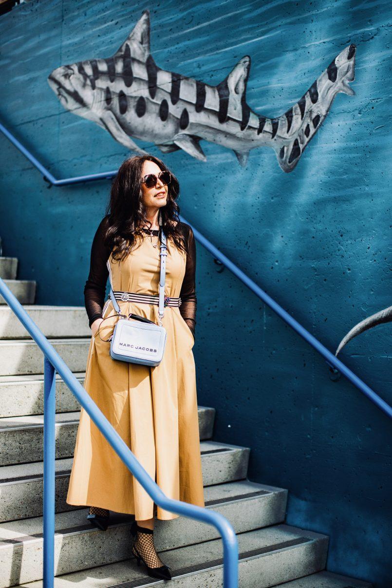 SFizio fashion, italian fashion, Marc Jacobs bag, streetstyle, Prada shoes, Calzedonia sling backs, Prada shades, Rinascimento top, bestage, Fashionblog, over50blogger, Fashionblogger, streetwear, stripes, eyeweardesign, fashion for ladies, travel and fashion