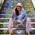 Etnia Barcelona shades, Grace Fashion top, Lanidor scarf and pants, Isabella Larusso shoes, flower power, hippie style, over50, fashion for ladies, Fashionblog Augsburg, streetstyle, streetfashion San Francisco, effortless chic, eyewearblogger, eyewearfashion, trends, fashionweek