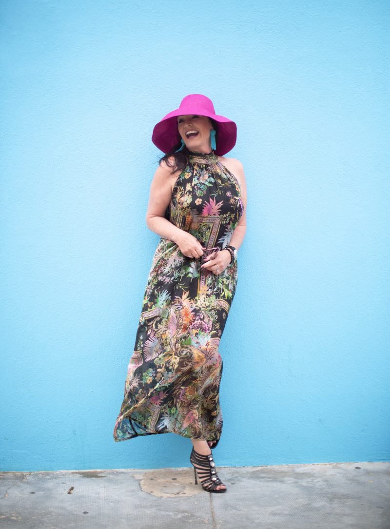 Ana Alcazar dress, Vestopazzo hat, Sam Edelman shoes, Fashionblogger, summerlook, summerdress, mystyle, summerstyle, beachwear, style for ladies, 50+influencer, influencer, Fashionblog Augsburg, Damenmode, Trends 2019, italian fashion, Urlaubslook, cochastyle