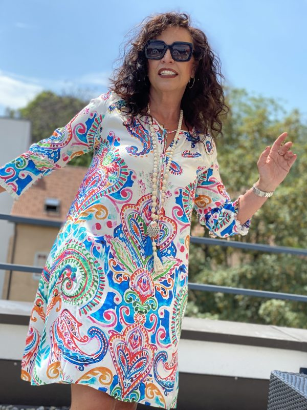 Grace summerdress,  print, summer look, summer style, dress, jewelry, fashionjewelry, accessoires, eyewearblogger, eyewearstyle, summerlook, streetstyle,, ageless Fashion,  ageless style,  beautyblogger, cochastyle, Fashionblog Augsburg