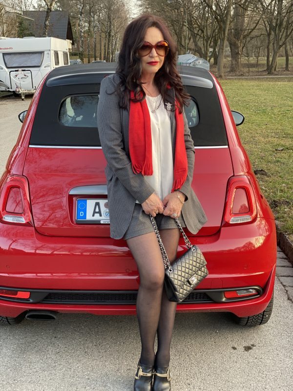 Red Soles, Christian Louboutin shoes, Rinascimento suit, Chanel bag, Tom Ford Shades, Mango top, shoelover, eyewearblogger, mystyle, ageless fashion, over 50, Chanel 2.55, Fashionblog Augsburg, cochastyle