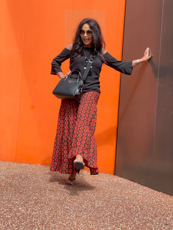 Palazzo pants Oceano by Otto 28, Rinascimento top, Cutouts, Grace necklace, Prada bag, Chloe shades, style for ladies, ageless, ageless fashion, timeless, fancy style, woman with style, happy moments, print, summeroutfit, summer, streetsyle, streetwear, Fashionblog Augsburg, cochastyle